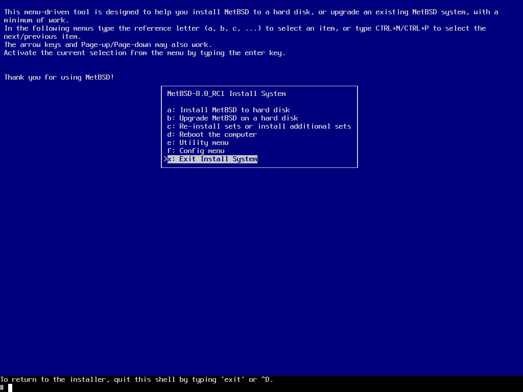 Installation on UEFI systems