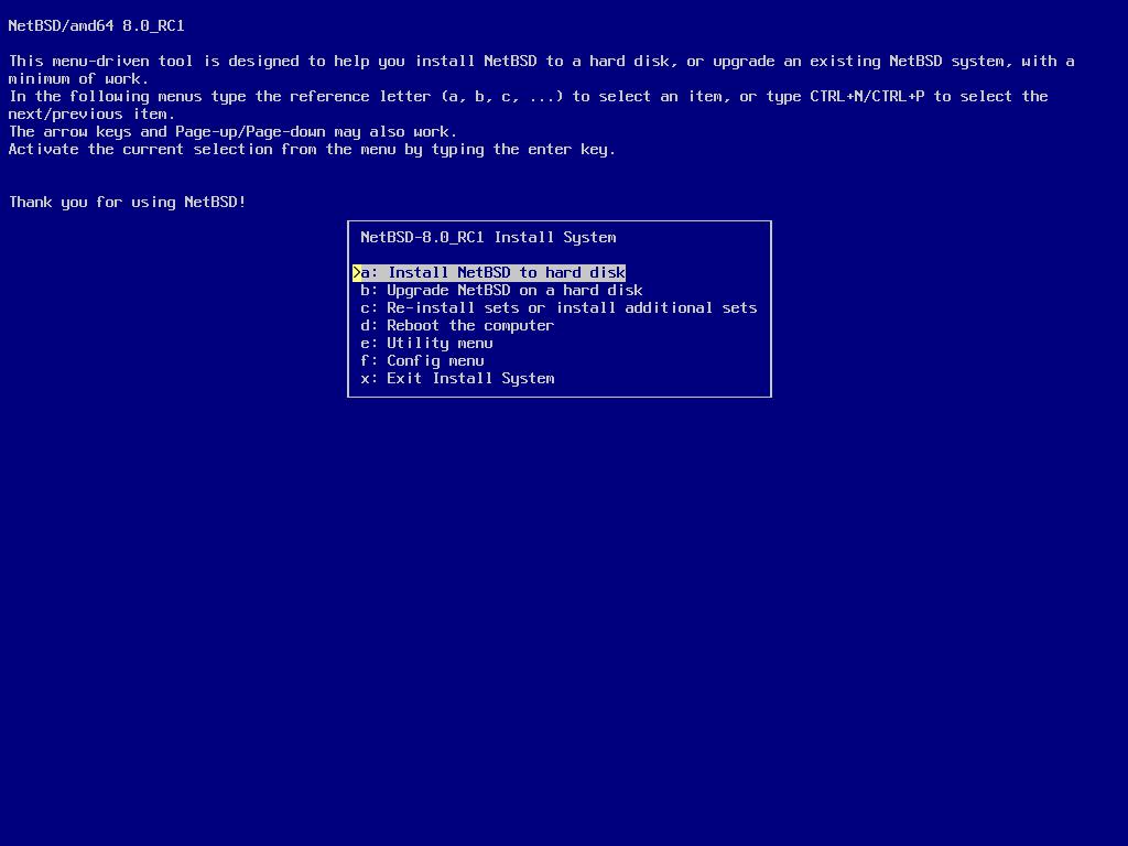 screenshot of sysinst