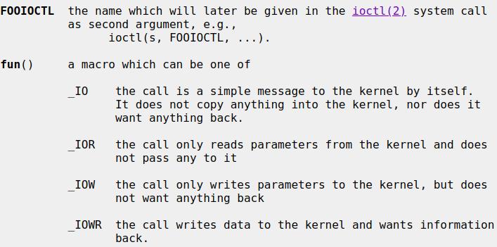 ioctl description